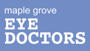Maple Grove Eye Doctors Logo Square Blue