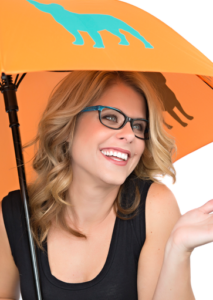 Girl with blue glasses Maple Grove Eye Doctors at. Pearle Vision