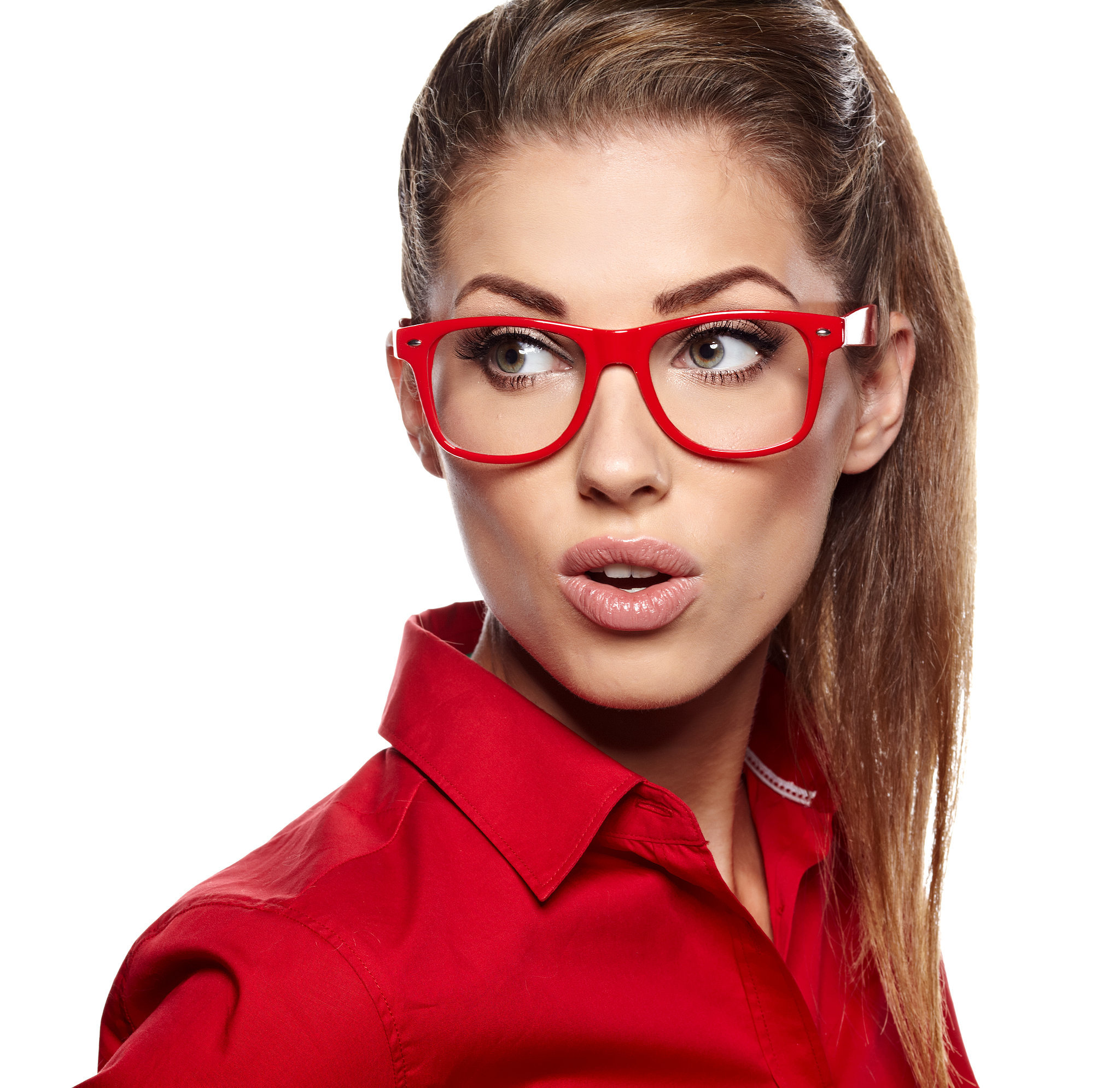 Red glasses Maple Grove Eye Doctors at Pearle Vision