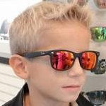 Boy with mirrored sunglasses Maple Grove Eye Doctors
