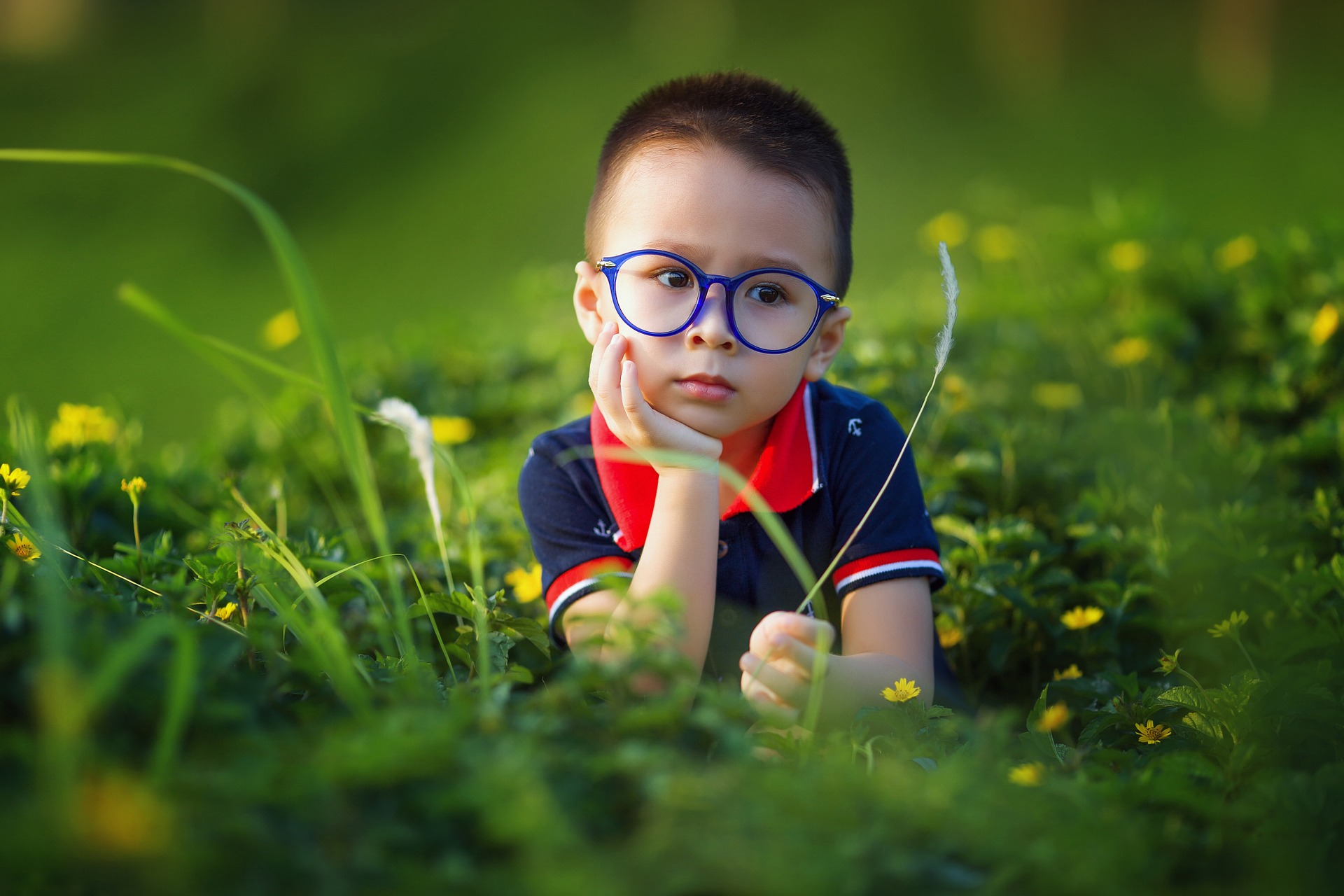 Boy with Glasses Maple Grove Eye Doctors at Pearle Vision