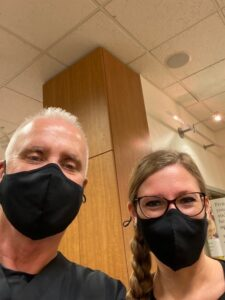 Man + Woman Wearing Masks maple Grove eye doctors at Pearle Vision